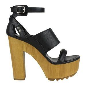 Mark & Maddux Ankle Strap Platform Heel Sandals